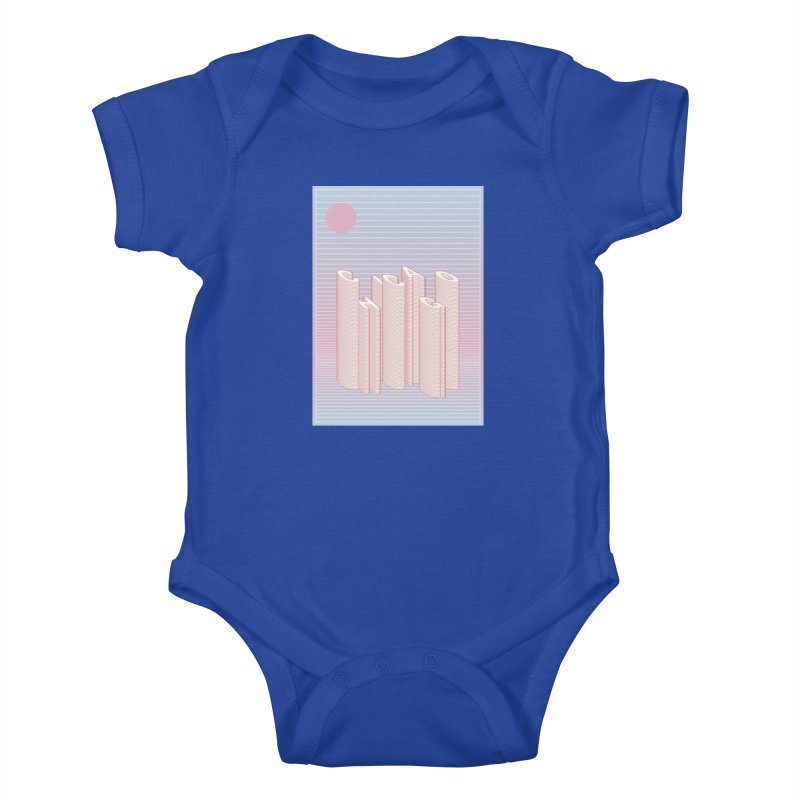 Chicago City Minimal Skyline Kids Baby Bodysuit by virbia's Artist Shop