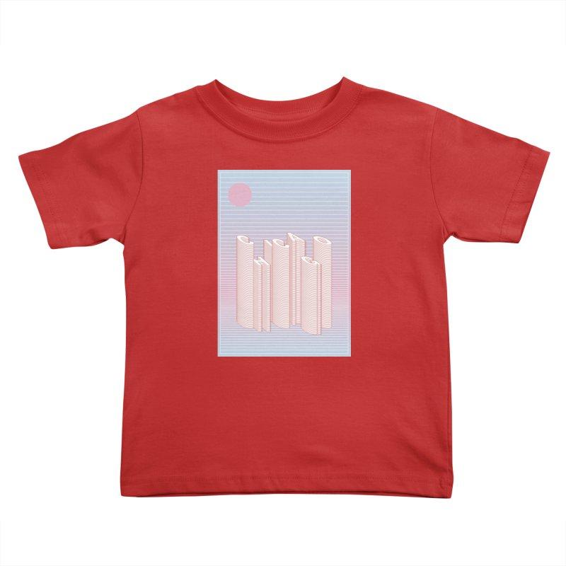Chicago City Minimal Skyline Kids Toddler T-Shirt by virbia's Artist Shop