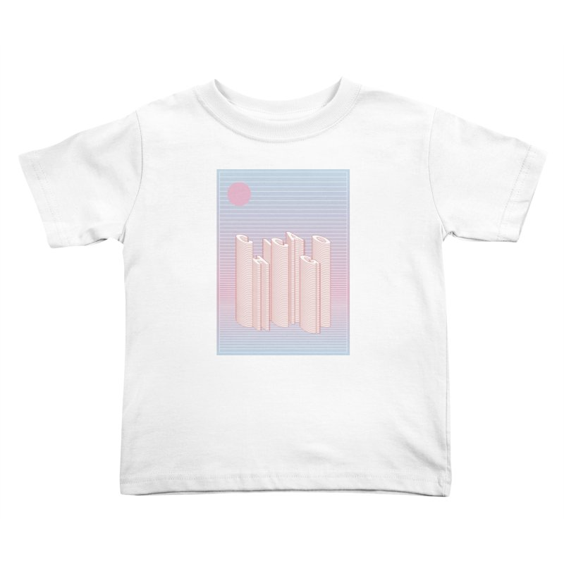 Chicago City Minimal Skyline Kids Toddler T-Shirt by virbia's Artist Shop