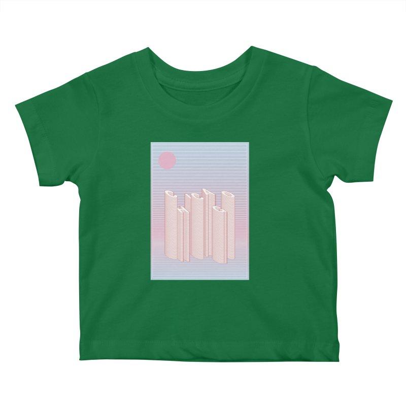 Chicago City Minimal Skyline Kids Baby T-Shirt by virbia's Artist Shop