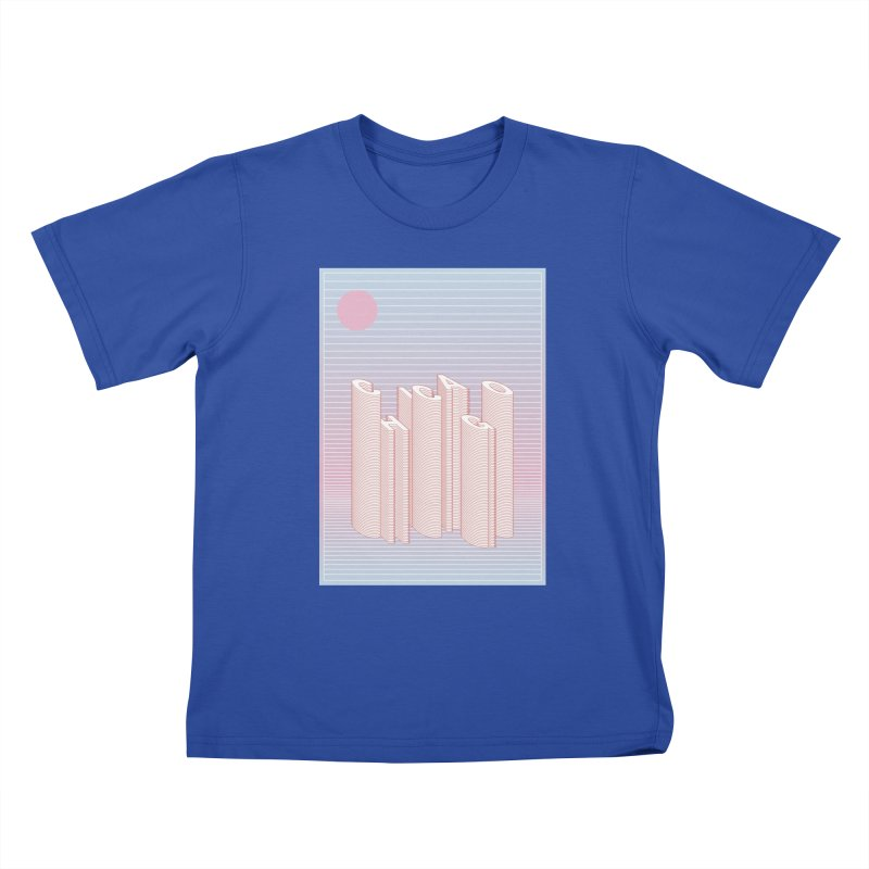 Chicago City Minimal Skyline Kids T-Shirt by virbia's Artist Shop