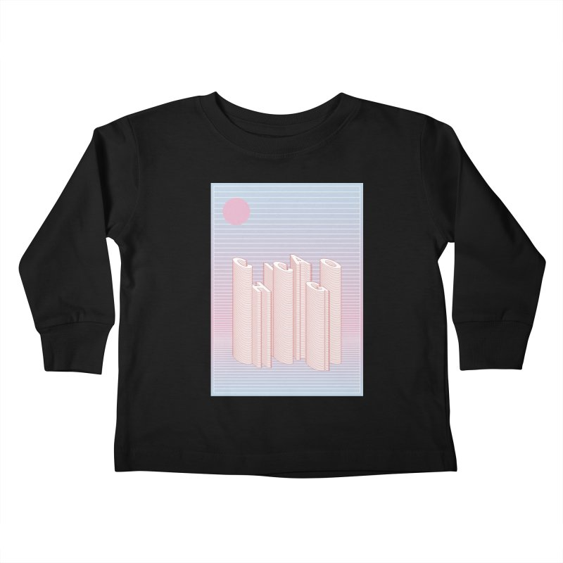 Chicago City Minimal Skyline Kids Toddler Longsleeve T-Shirt by virbia's Artist Shop