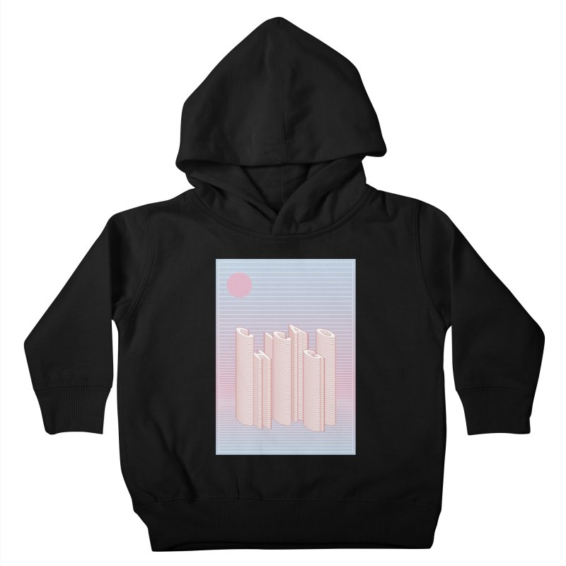 Chicago City Minimal Skyline Kids Toddler Pullover Hoody by virbia's Artist Shop