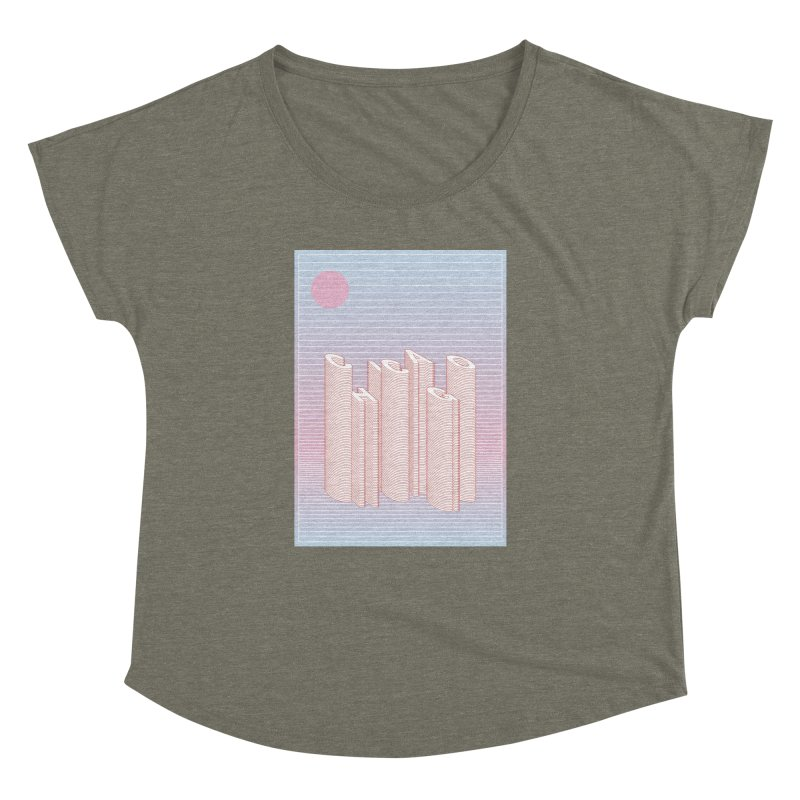 Chicago City Minimal Skyline Women's Dolman Scoop Neck by virbia's Artist Shop