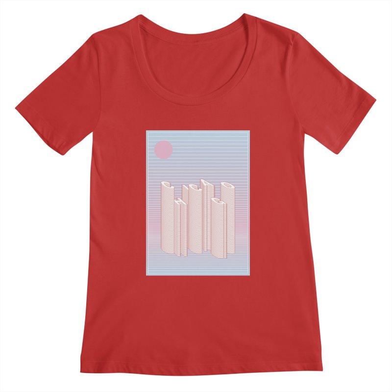 Chicago City Minimal Skyline Women's Regular Scoop Neck by virbia's Artist Shop