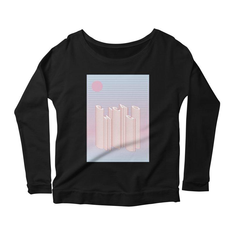 Chicago City Minimal Skyline Women's Scoop Neck Longsleeve T-Shirt by virbia's Artist Shop