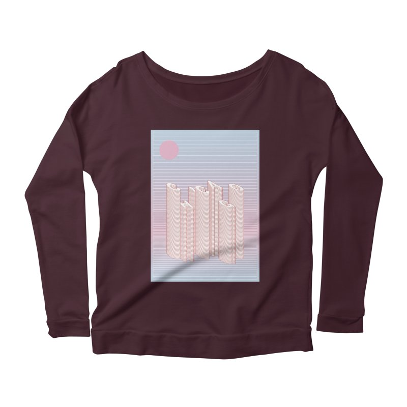 Chicago City Minimal Skyline Women's Scoop Neck Longsleeve T-Shirt by virbia's Artist Shop