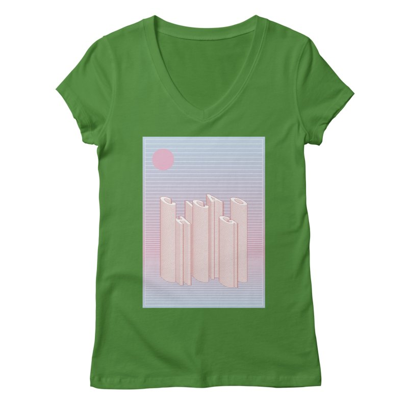 Chicago City Minimal Skyline Women's Regular V-Neck by virbia's Artist Shop