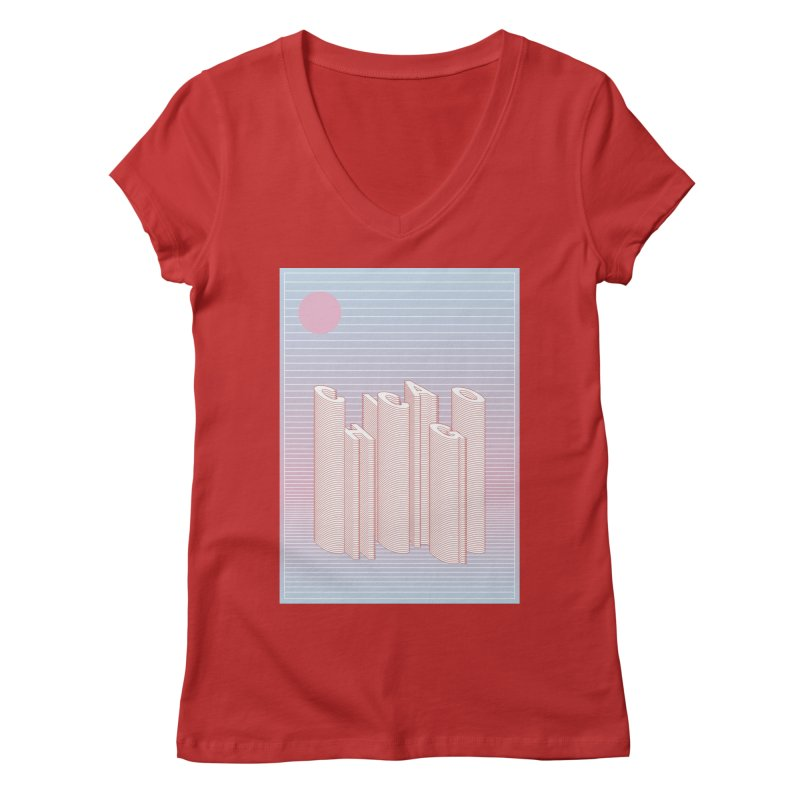 Chicago City Minimal Skyline Women's Regular V-Neck by virbia's Artist Shop