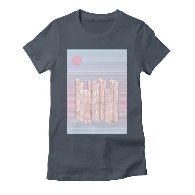 Chicago City Minimal Skyline Women's T-Shirt by virbia's Artist Shop