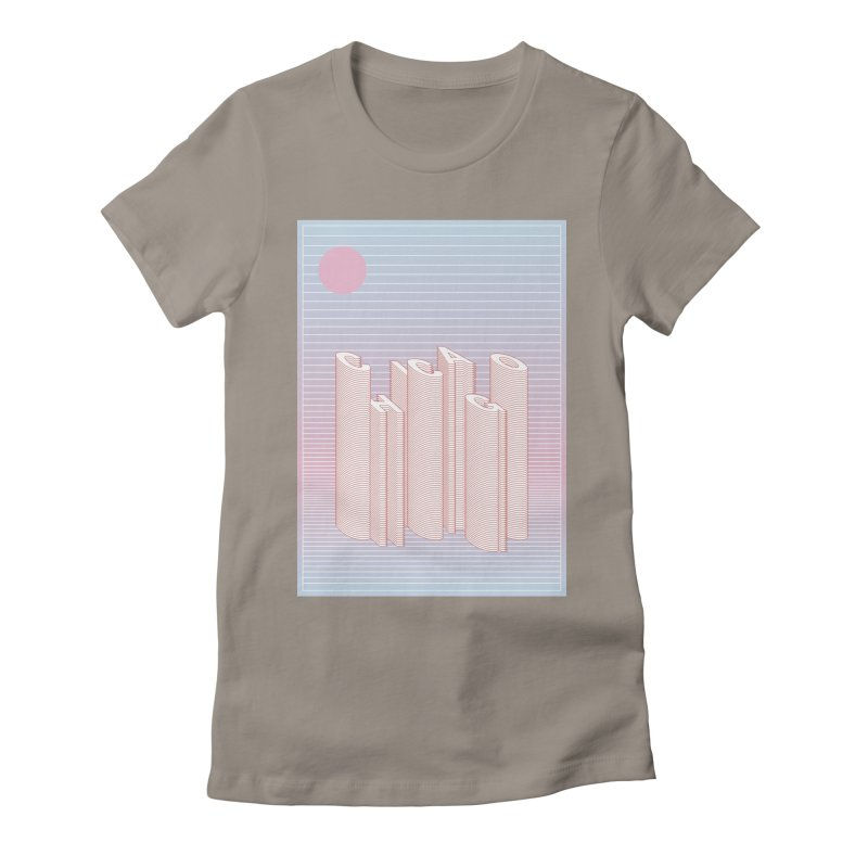 Chicago City Minimal Skyline Women's Fitted T-Shirt by virbia's Artist Shop