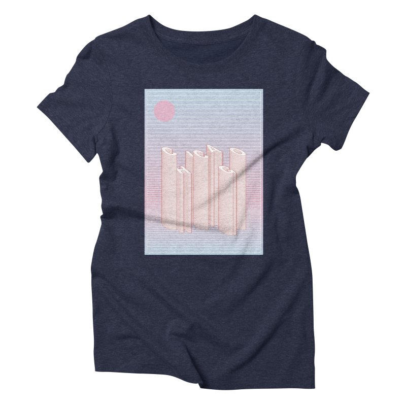 Chicago City Minimal Skyline Women's Triblend T-Shirt by virbia's Artist Shop