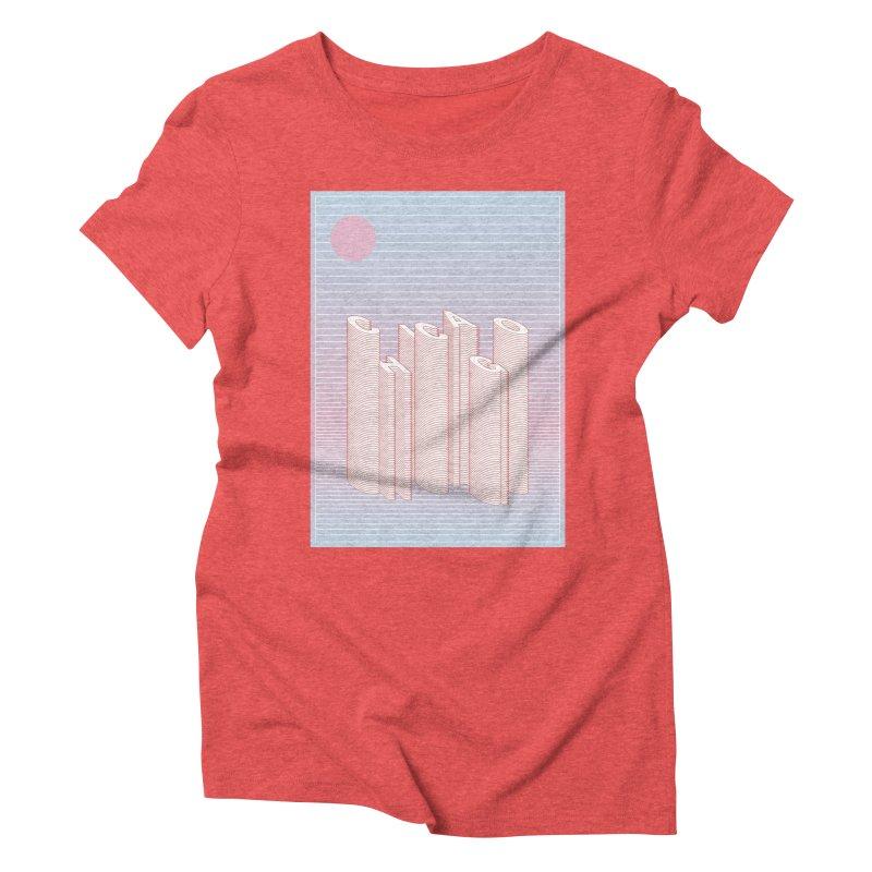 Chicago City Minimal Skyline Women's Triblend T-Shirt by virbia's Artist Shop