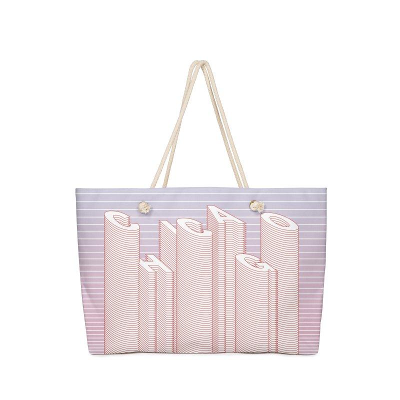 Chicago City Minimal Skyline Accessories Bag by virbia's Artist Shop