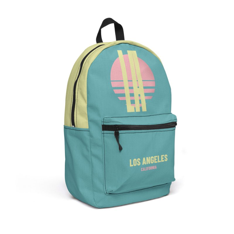 LA Los Angeles California sunset Accessories Backpack Bag by virbia's Artist Shop