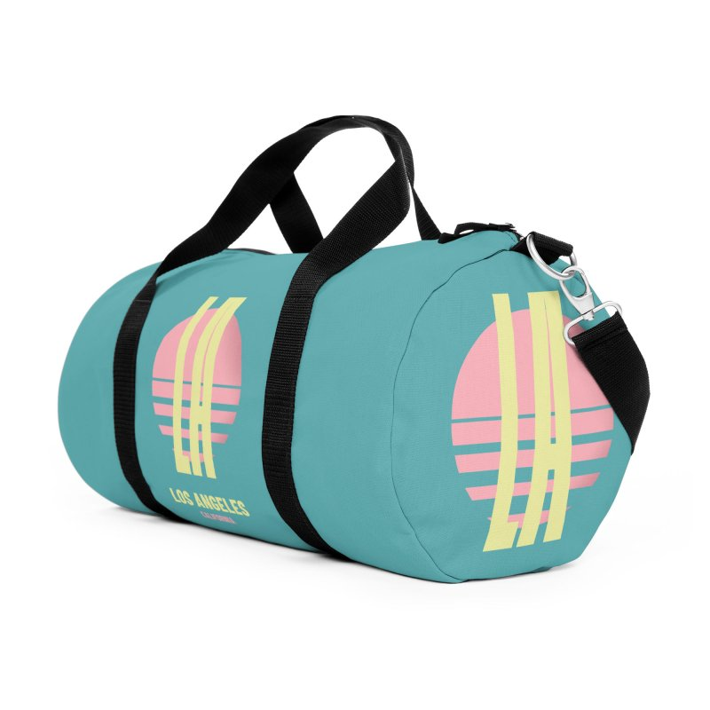 LA Los Angeles California sunset Accessories Duffel Bag Bag by virbia's Artist Shop
