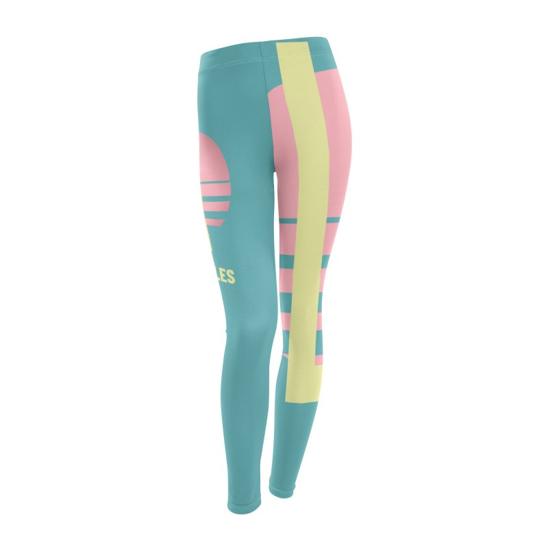 LA Los Angeles California sunset Women's Leggings Bottoms by virbia's Artist Shop