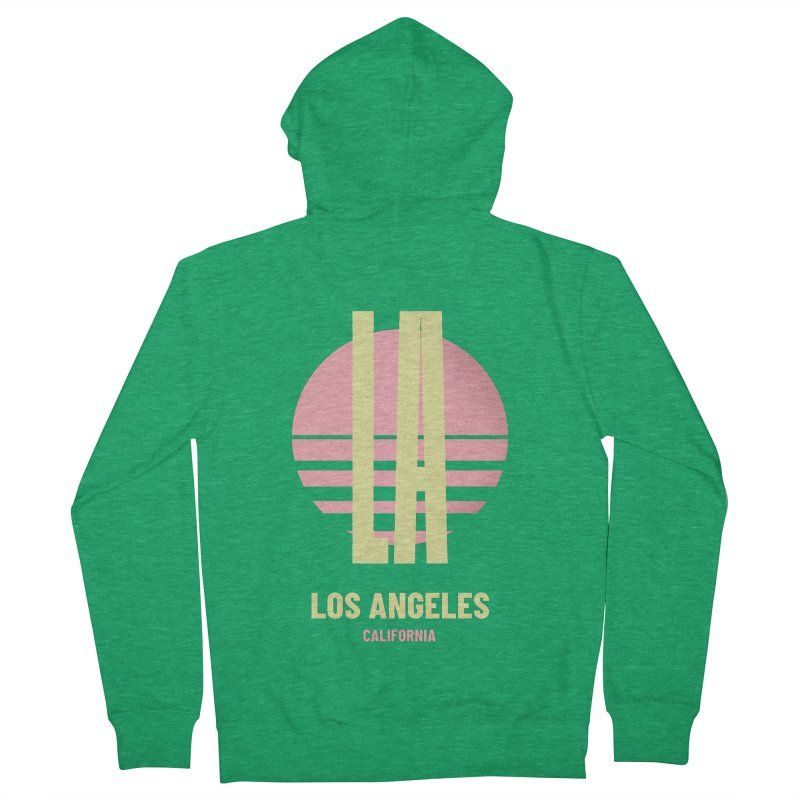 LA Los Angeles California sunset Men's French Terry Zip-Up Hoody by virbia's Artist Shop