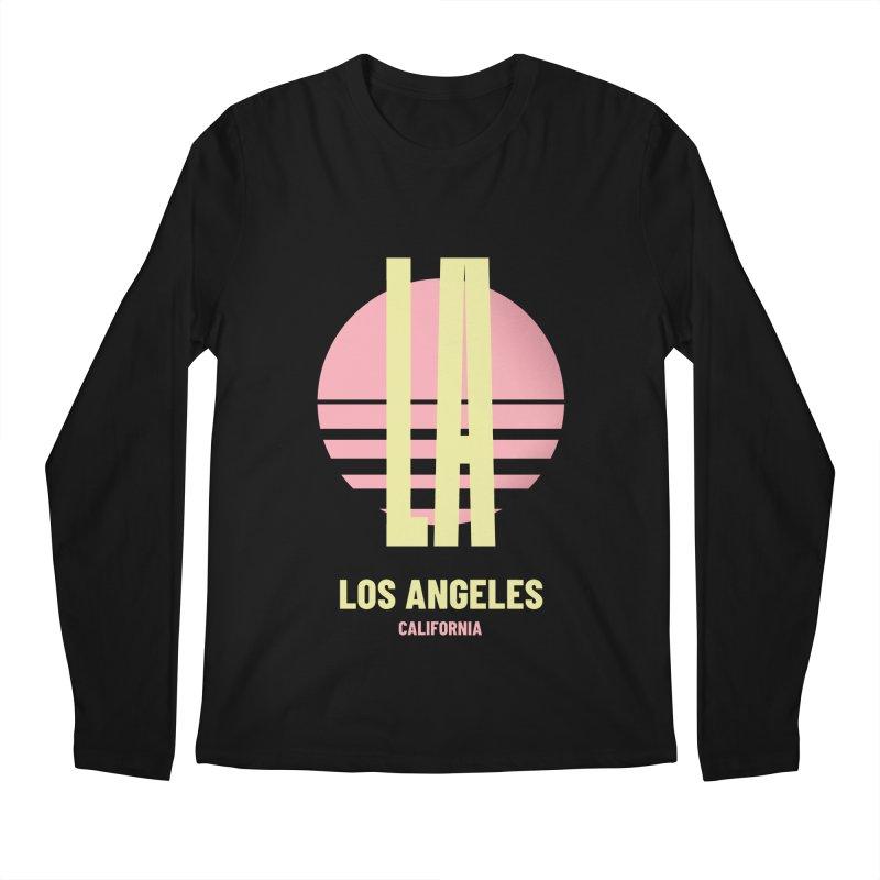 LA Los Angeles California sunset Men's Regular Longsleeve T-Shirt by virbia's Artist Shop
