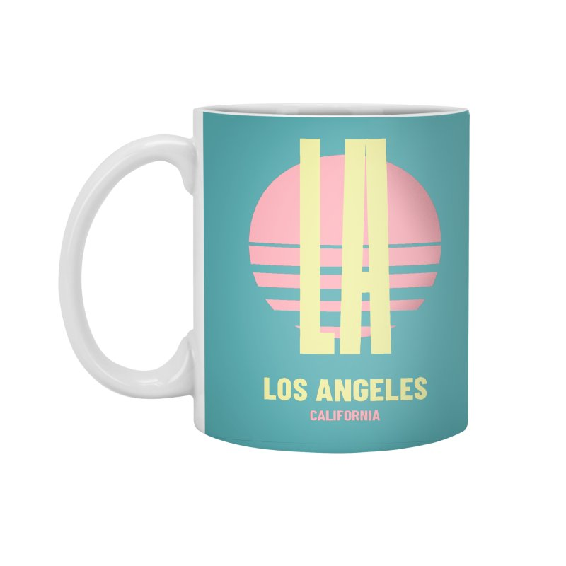 LA Los Angeles California sunset Accessories Standard Mug by virbia's Artist Shop