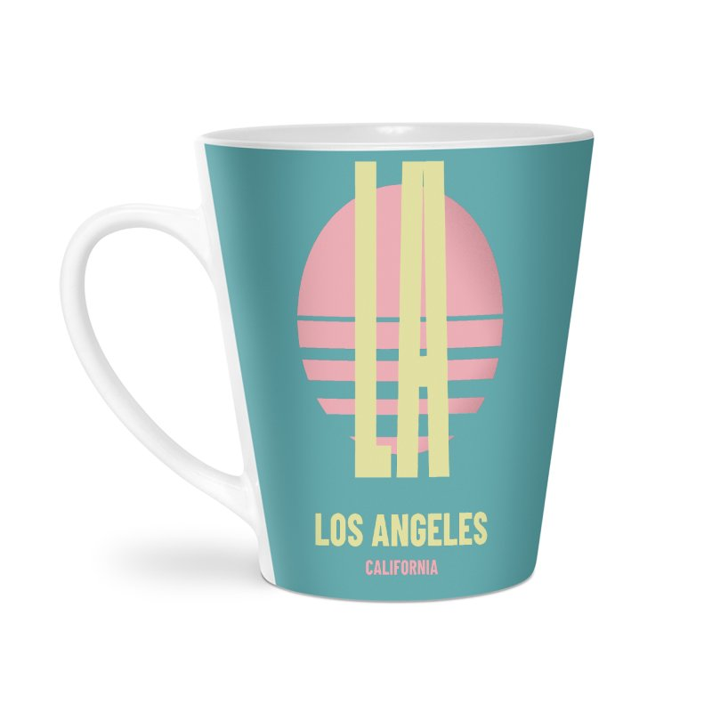 LA Los Angeles California sunset Accessories Latte Mug by virbia's Artist Shop