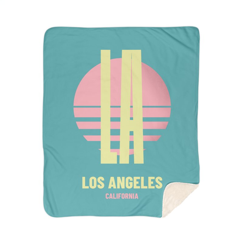 LA Los Angeles California sunset Home Sherpa Blanket Blanket by virbia's Artist Shop