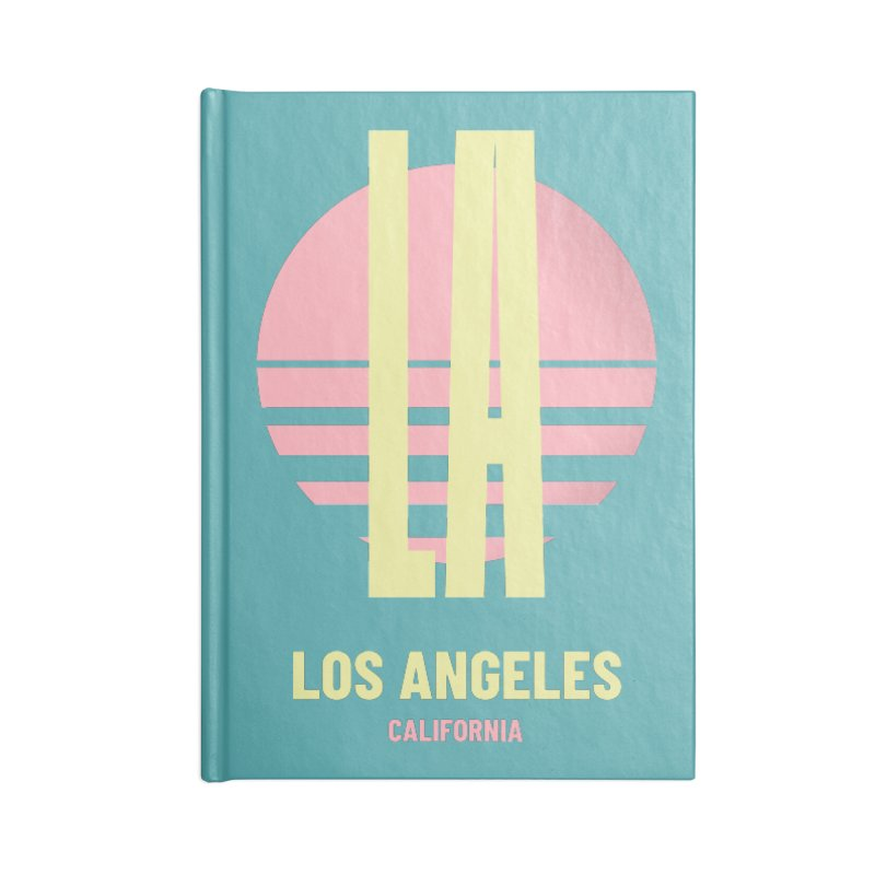 LA Los Angeles California sunset Accessories Lined Journal Notebook by virbia's Artist Shop