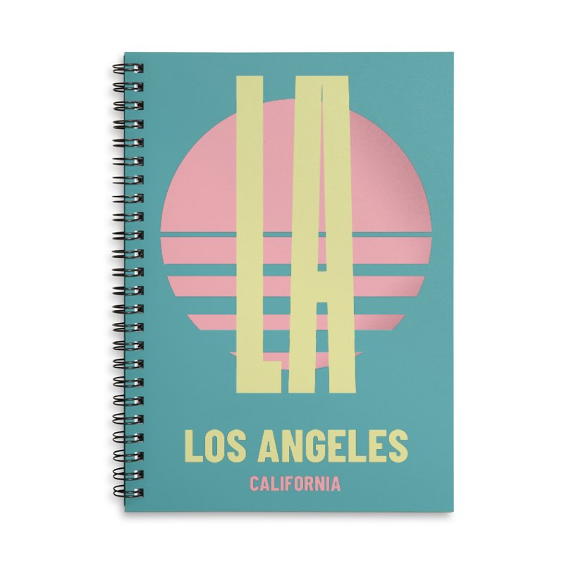 LA Los Angeles California sunset Accessories Lined Spiral Notebook by virbia's Artist Shop