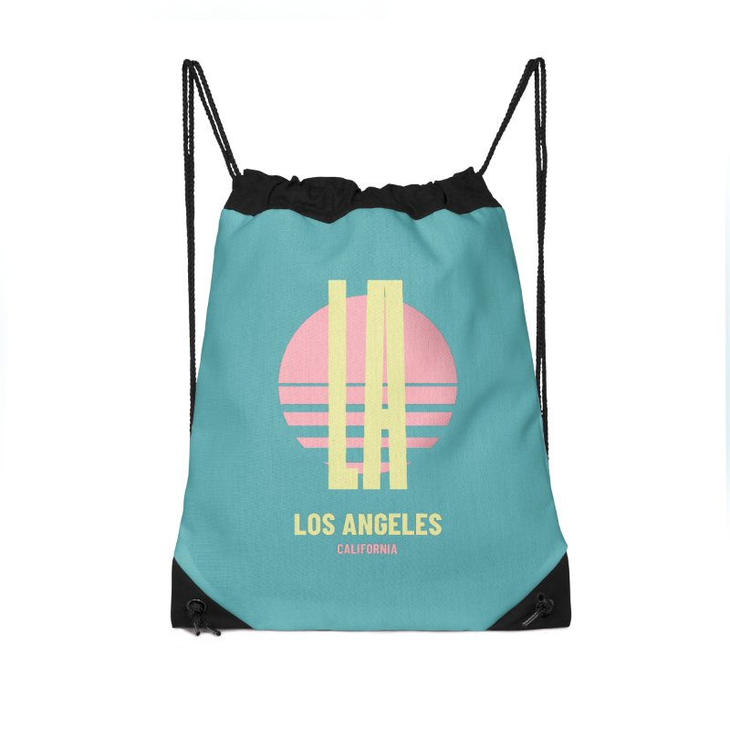 LA Los Angeles California sunset Accessories Drawstring Bag Bag by virbia's Artist Shop