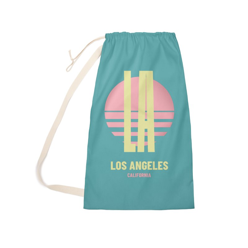 LA Los Angeles California sunset Accessories Laundry Bag Bag by virbia's Artist Shop