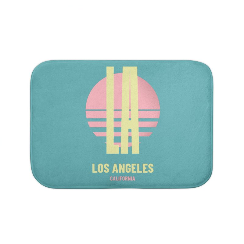 LA Los Angeles California sunset Home Bath Mat by virbia's Artist Shop