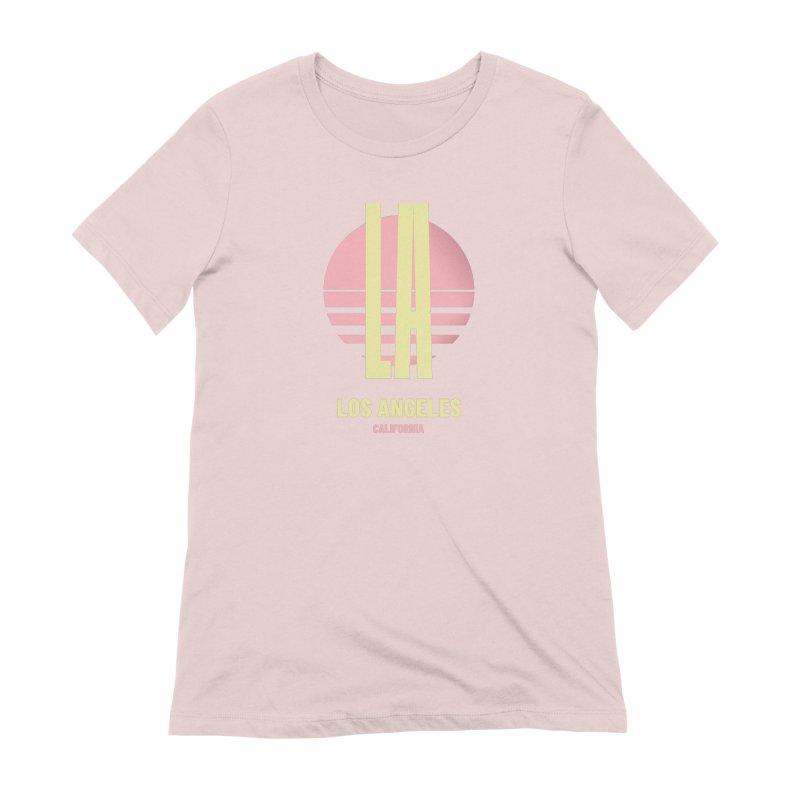LA Los Angeles California sunset Women's Extra Soft T-Shirt by virbia's Artist Shop