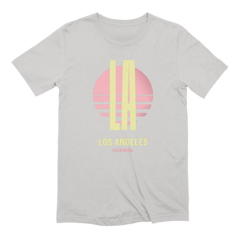 LA Los Angeles California sunset Men's Extra Soft T-Shirt by virbia's Artist Shop