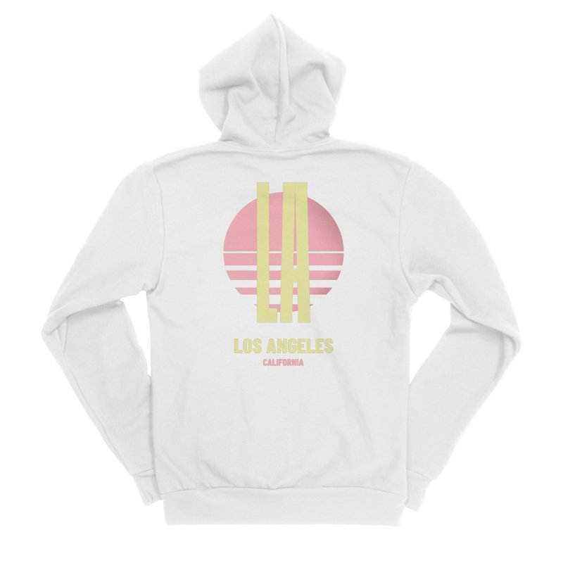 LA Los Angeles California sunset Men's Sponge Fleece Zip-Up Hoody by virbia's Artist Shop