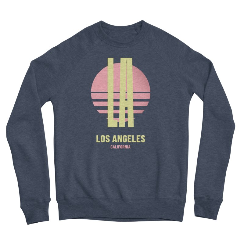 LA Los Angeles California sunset Men's Sponge Fleece Sweatshirt by virbia's Artist Shop