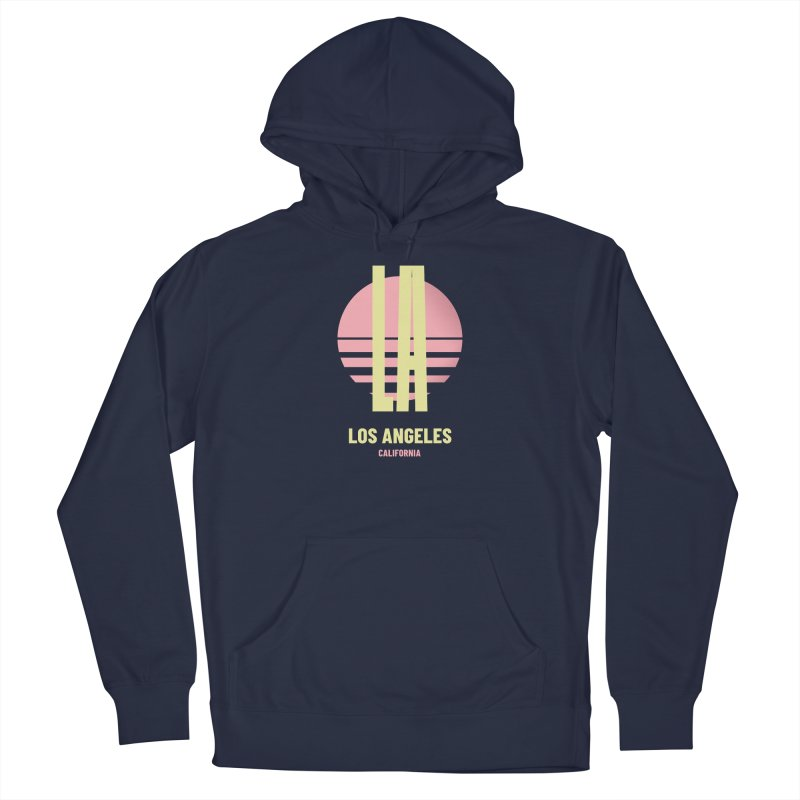 LA Los Angeles California sunset Men's Pullover Hoody by virbia's Artist Shop