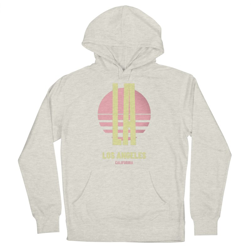 LA Los Angeles California sunset Women's French Terry Pullover Hoody by virbia's Artist Shop
