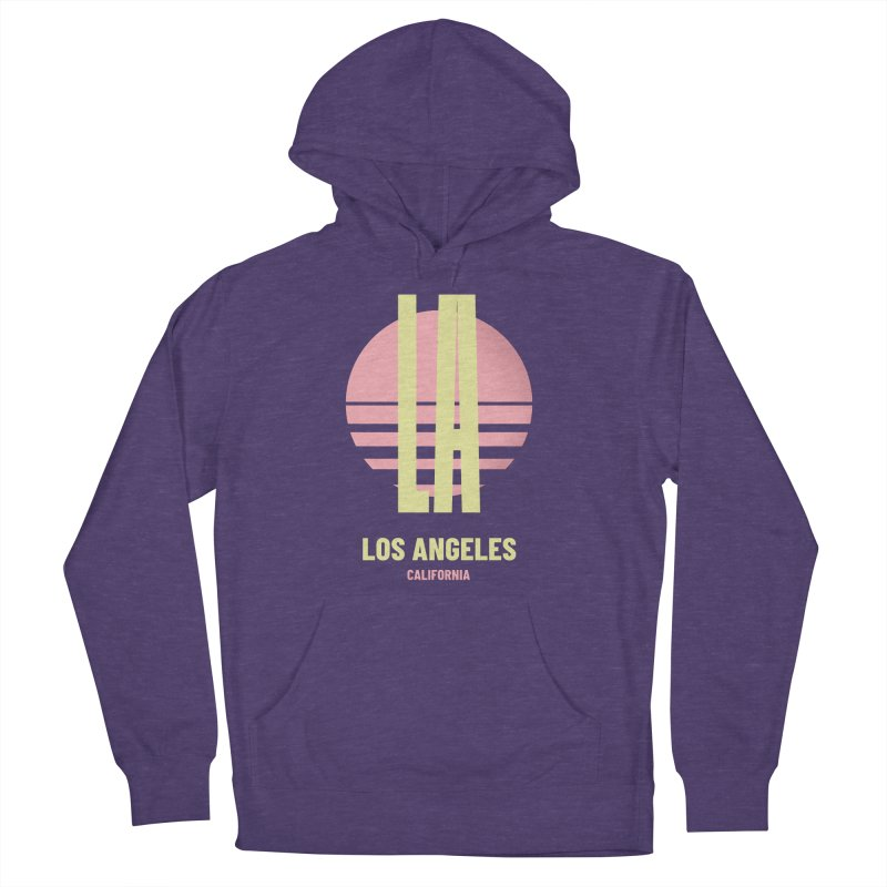 LA Los Angeles California sunset Men's French Terry Pullover Hoody by virbia's Artist Shop