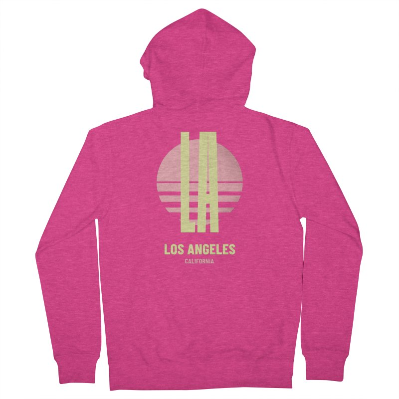 LA Los Angeles California sunset Women's French Terry Zip-Up Hoody by virbia's Artist Shop