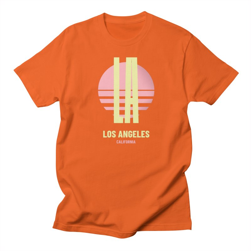 LA Los Angeles California sunset Men's Regular T-Shirt by virbia's Artist Shop