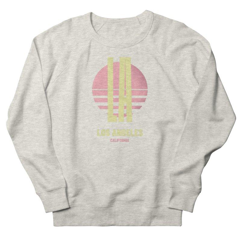 LA Los Angeles California sunset Men's French Terry Sweatshirt by virbia's Artist Shop
