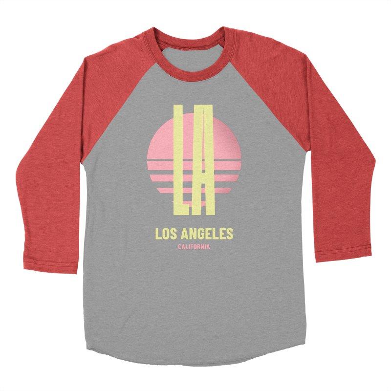 LA Los Angeles California sunset Women's Baseball Triblend Longsleeve T-Shirt by virbia's Artist Shop