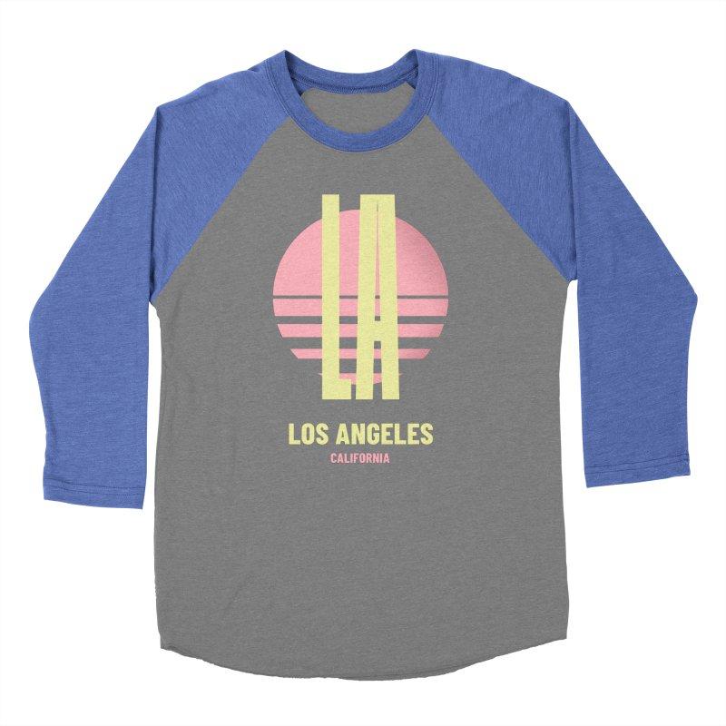 LA Los Angeles California sunset Men's Baseball Triblend Longsleeve T-Shirt by virbia's Artist Shop