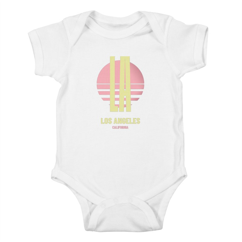 LA Los Angeles California sunset Kids Baby Bodysuit by virbia's Artist Shop