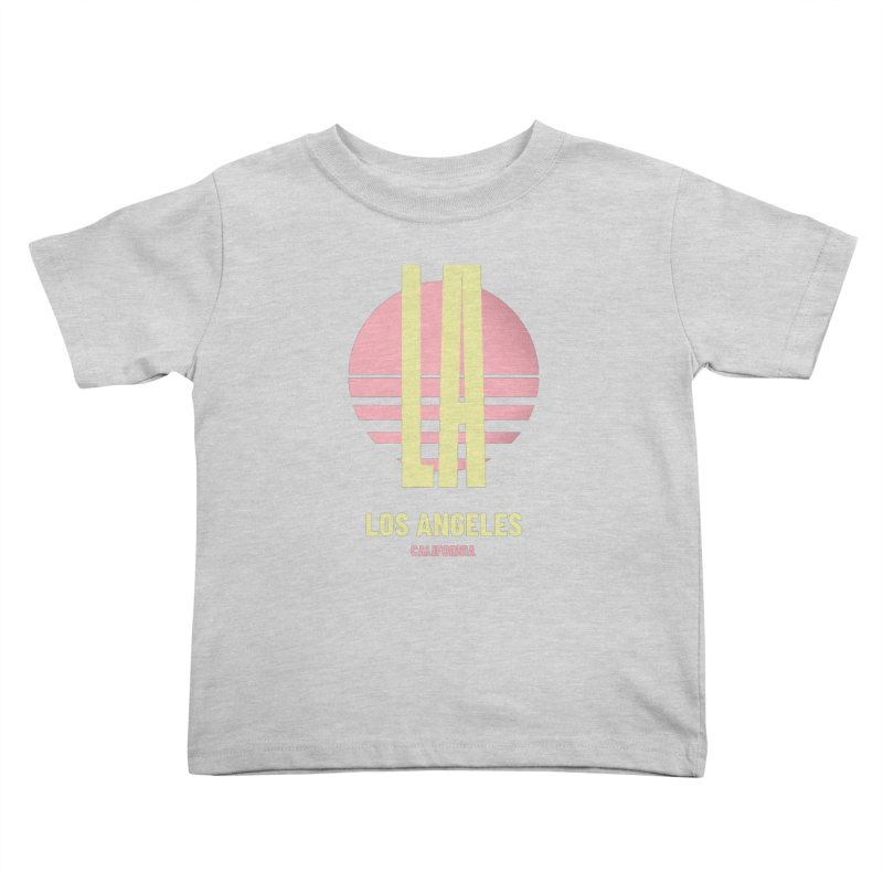 LA Los Angeles California sunset Kids Toddler T-Shirt by virbia's Artist Shop