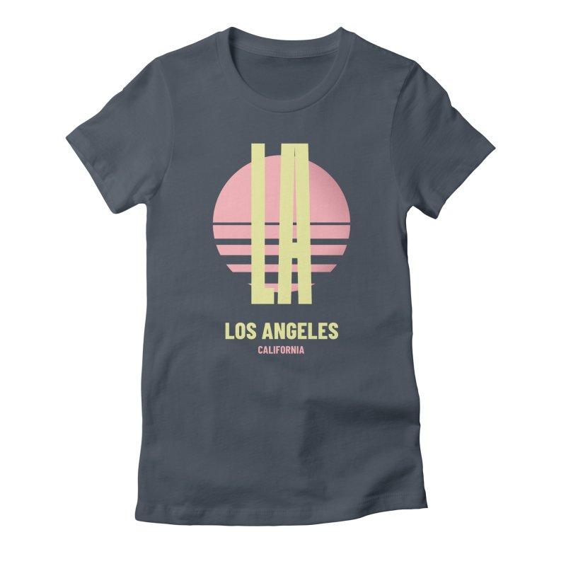LA Los Angeles California sunset Women's T-Shirt by virbia's Artist Shop