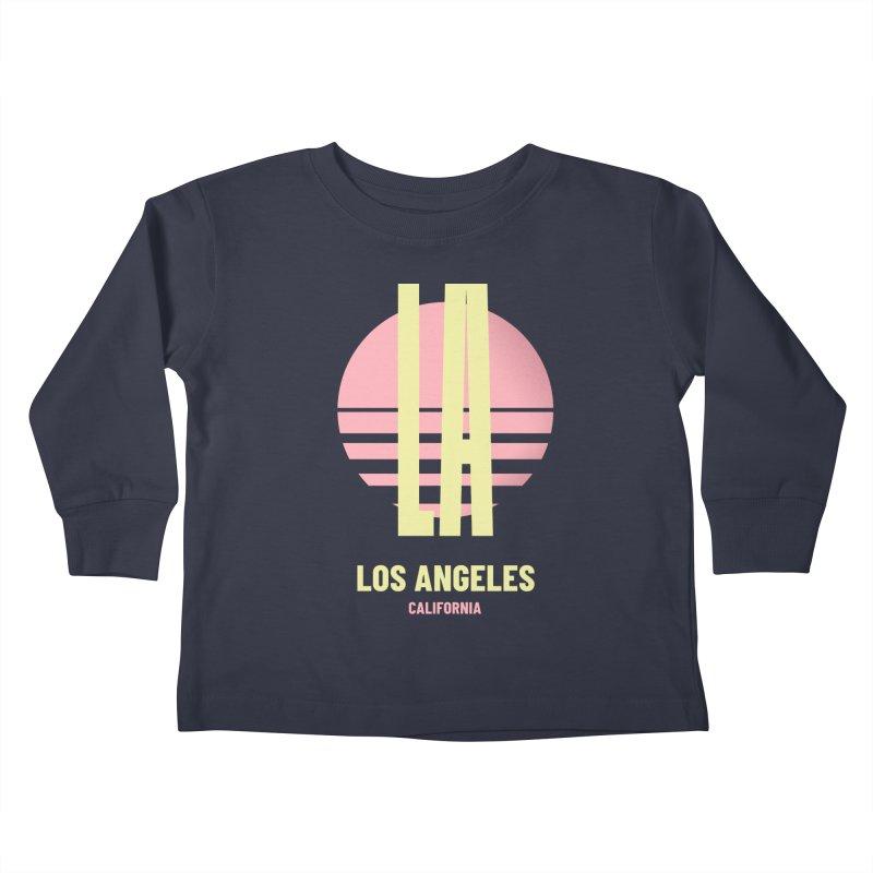 LA Los Angeles California sunset Kids Toddler Longsleeve T-Shirt by virbia's Artist Shop