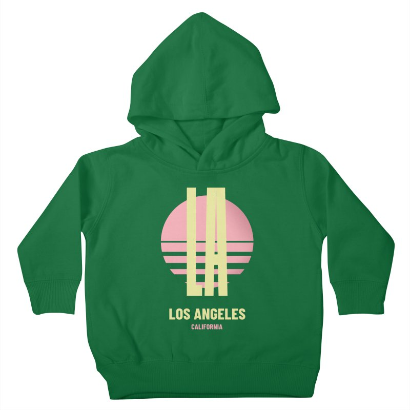 LA Los Angeles California sunset Kids Toddler Pullover Hoody by virbia's Artist Shop