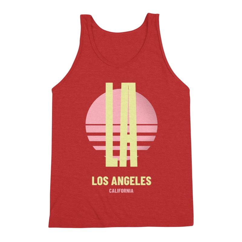 LA Los Angeles California sunset Men's Triblend Tank by virbia's Artist Shop