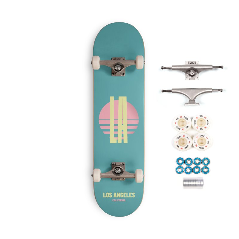 LA Los Angeles California sunset Accessories Complete - Premium Skateboard by virbia's Artist Shop